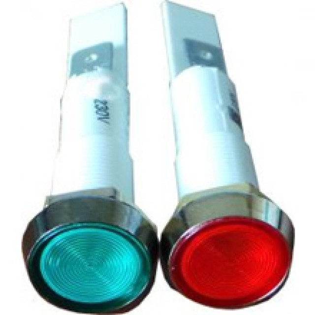 Red and Green Neon Indicator Lights
