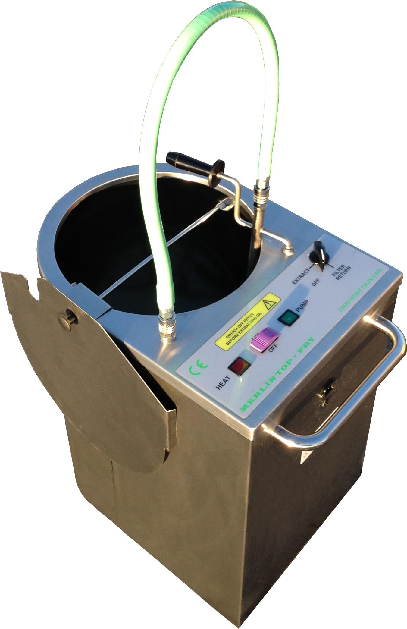Merlin top fry fat oil filtration machine